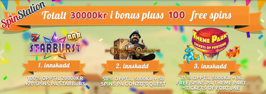Spinstation Norge - Casino, Bonus, Freespins, Anmeldelse