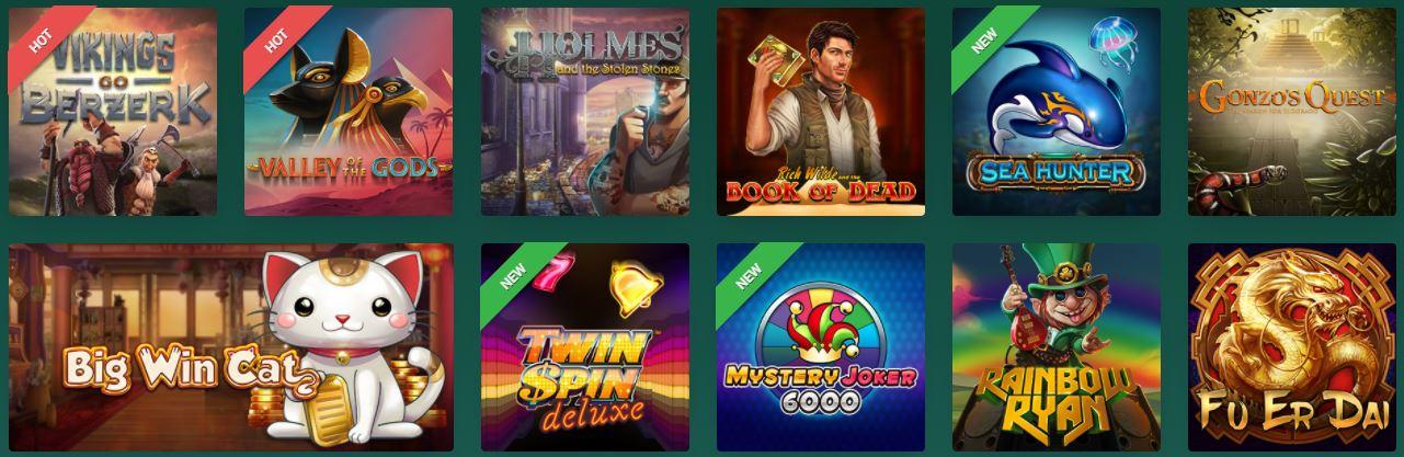 spilleautomater hos cresus casino
